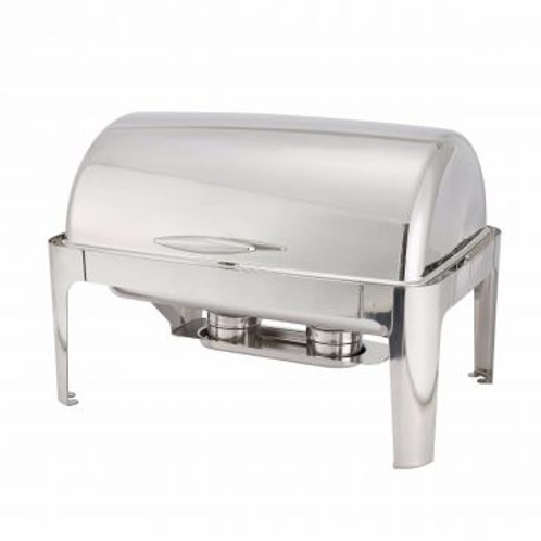 Winco 601 Madison 8 Qt. Full Size Roll Top Chafer