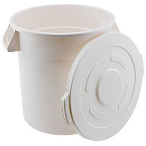 Heavy Duty White Polypropylene 10 Gallon Container