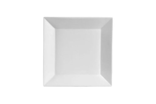 "KSE-6 6""Kingsquare Square Porcelain Bread Plate/White"