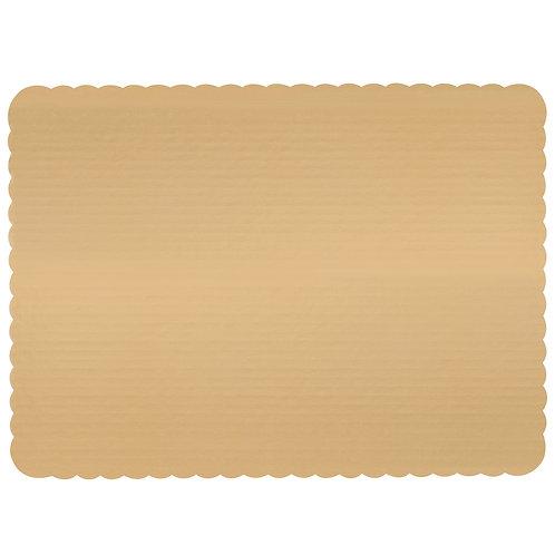 Gold Full Sheet Laminated Corrugated Single Wall Scalloped Cake Pad
