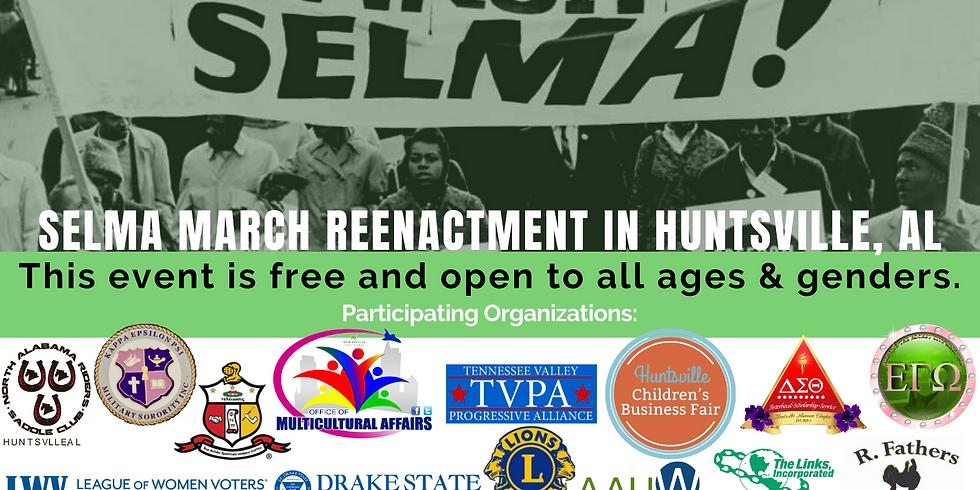 Selma to Montgomery Bridge Crossing Reenactment in HUNTSVILLE