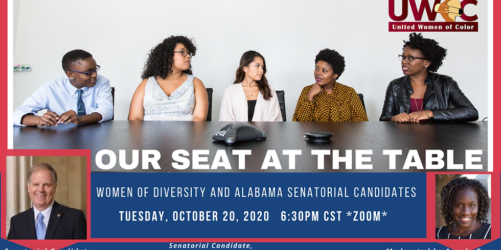 Our Seat at the Table: Women of Diversity with Senatorial Candidate Doug Jones