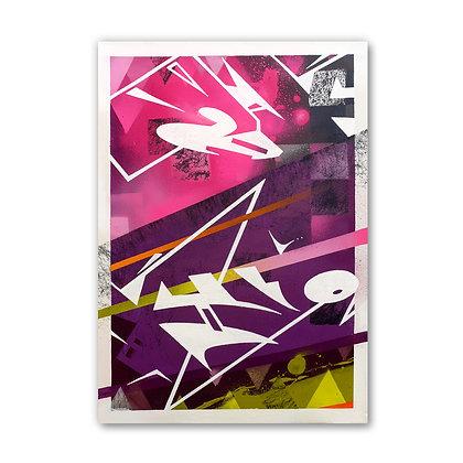 Pink Split - Canvas - SOLD
