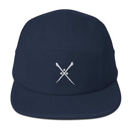 Five Panel Cap (5 Colours) w / White Logo and Rear Throwie