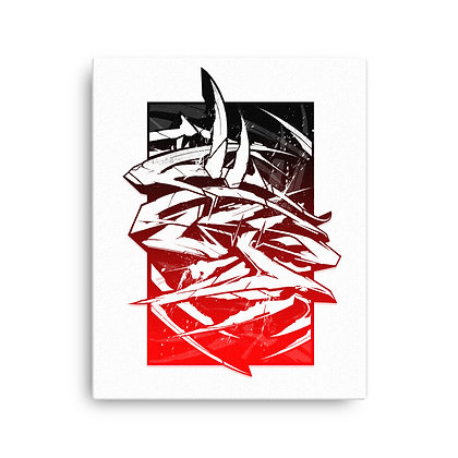 Printed Canvas T Squared Red (3 Sizes)