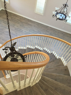 Laminate and Hardwood Staircases