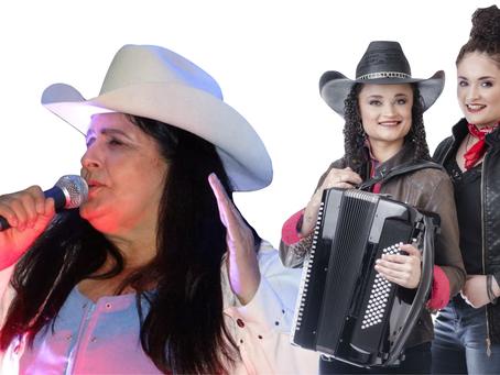 Leila Moreira e Jéssica e Jennifer no Cantinho da Viola do SESC São Carlos dia 10/03.