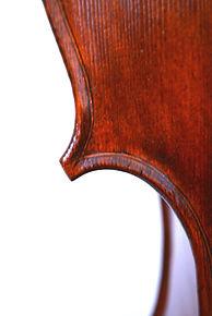 Corner left fron Cello Gore Booth 1710 Stradivari