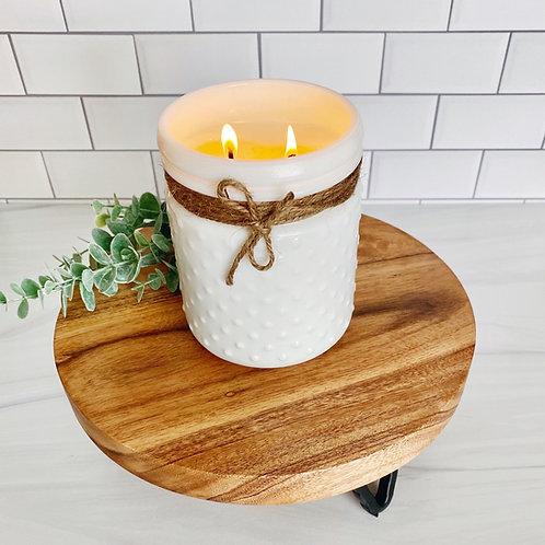Vintage Inspired Hobnail Candle