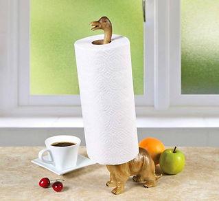 Dinosaur Paper Towel Holder Cast Iron Animal Paper Towel Holder Bath Tissue Toilet Organizer Free-Standing Rustic Decor