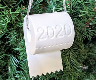 2020 Christmas Toilet Paper Ornament Personalized Toilet Paper Roll Decor, Christmas Tree DIY Decor Hanging Ornament