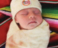Ashipher Burrito Tortilla Swaddle Blanket and Hat for Baby/Kids