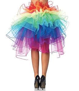 Women's Rainbow Style Multicoloured Long Tail Skirt Lingerie Mini Skirt Bubble Skirt Tutu Dress