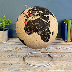 Small Cork Globe with Pins by SUCK UK