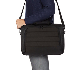 Designed for a 15.6-inch laptop or for laptops and tablets smaller than 16 x 1.5 x 11.2 inches (LxWxH). Zippered back pocket keeps a smartphone within reach; front pocket with organization panel