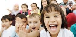kids in bleachers