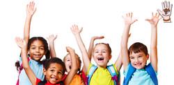 kids hands in air