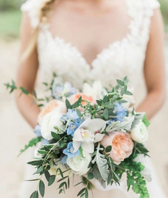 Beautiful and bright bridal bouquet