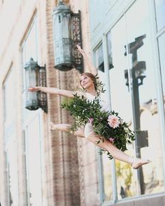 Floral design for dancer photo shoot