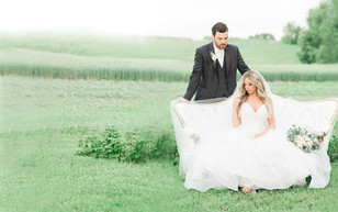 Bride and groom outdoor natural and vintage shoot