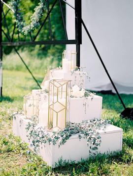 Outdoor wedding event design