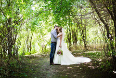 Bride and groom natural forest shoot