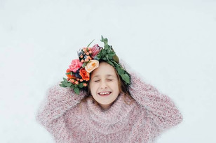 Flower crown for family photos