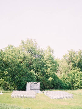 Beautiful, green, natural outdoor wedding