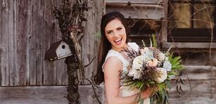 Rustic barn bridal shoot