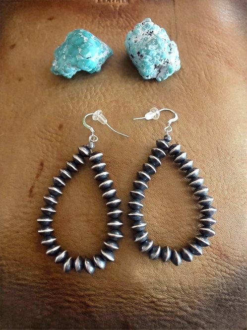 Navajo Pearl Saucer Bead Earrings