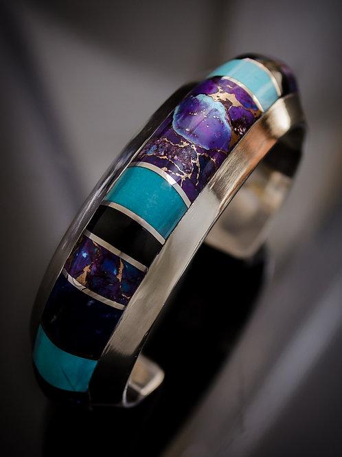 Mojave Turquoise Inlay Cuff (Custom Order)
