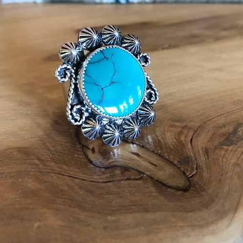 Turquoise Ring with stars (Custom Order)