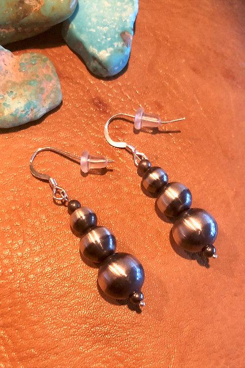 Navajo Pearl 3 Drop Earrings