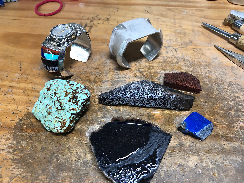 Turquoise, Dinosaur Bone, Lapis and Coral