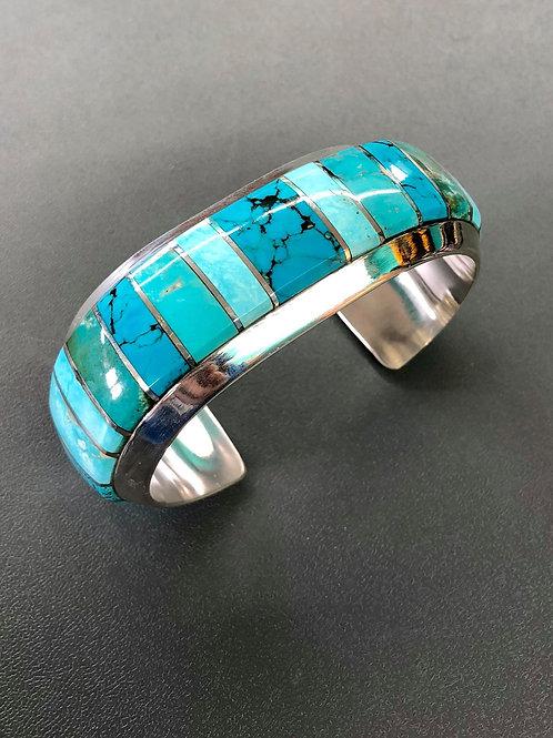 Turquoise Inlay Cuff (Custom Order)