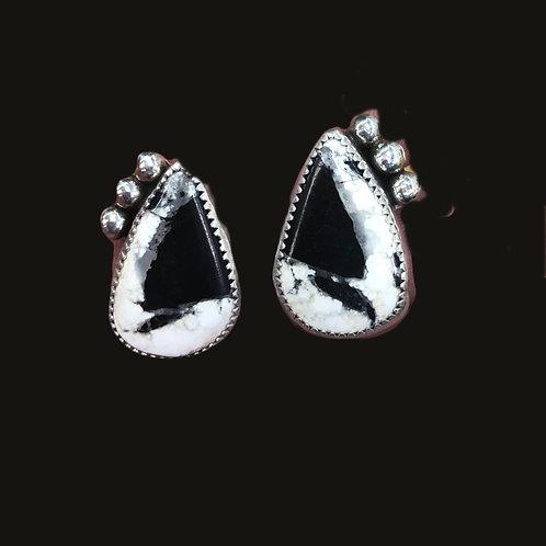 (SOLD)  White Buffalo Earrings