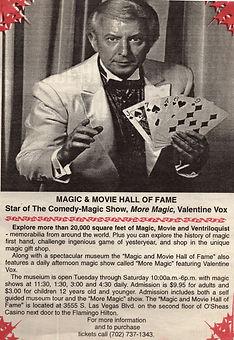 Valentine Vox in Thats Magic Show in Las Vegas 1999.jpg
