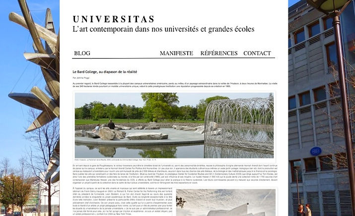 Universitas blog art contemporain