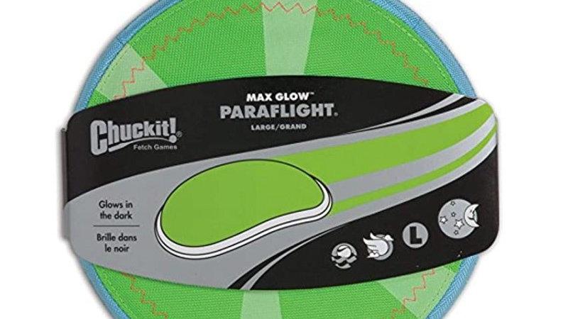 Chuckit Paraflight Glow,  juguete para perros aerodinámico