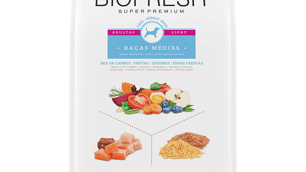 Biofresh Super Premium Light para perros raza mediana
