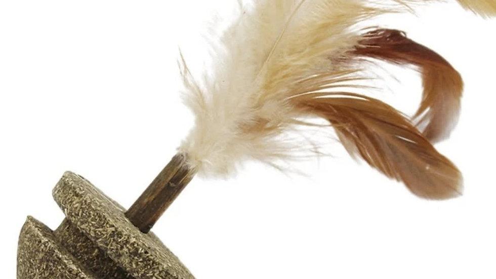 Juguete porfiado de hierba Gatera con plumas