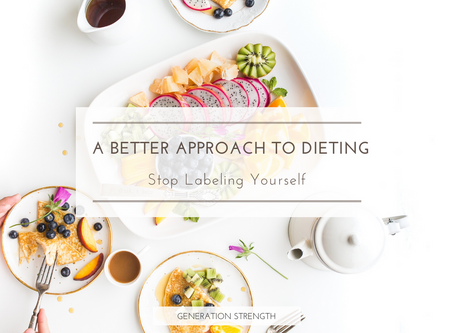 Stop labeling yourself based on your diet