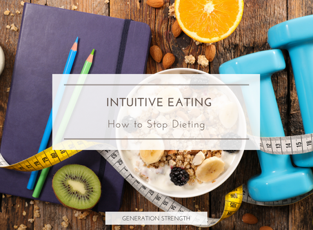 Intuitive eating to stop dieting