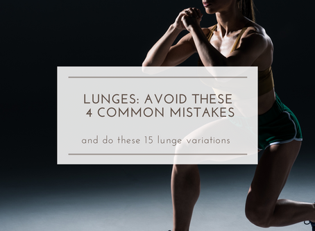 Avoid these 4 common lunge mistakes