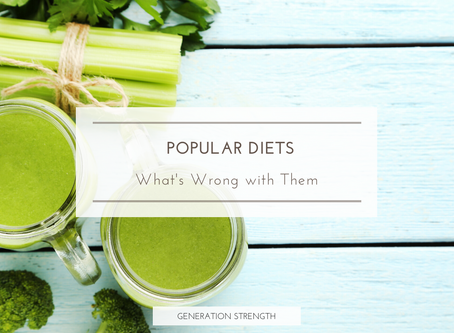 Popular diets, what's wrong with them