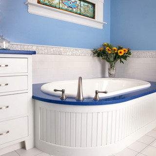 Blue & White Bathroom
