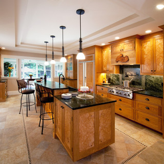 Natural Cherry & Burl Kitchen