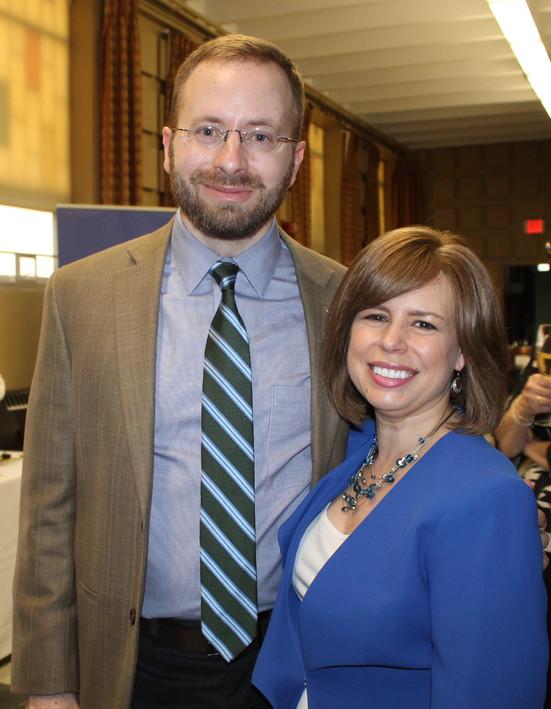 Aaron Gordon, NBUW Board of Directors with Christa