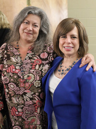 Liana Toscanini, Non-Profit Center of the Berkshires Executive Director with Christa