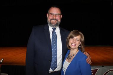 Christa and North Adams Mayor Tom Bernard